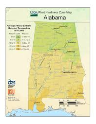 Alabama State Map State Maps Of Usda Plant Hardiness Zones