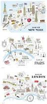 new york paris and london maps by doceve city u0026 map illustrator