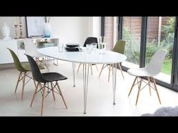 eames inspired dining table great modern white satin oval extending dining table 6 10 seater
