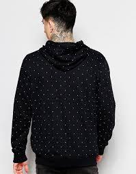 vans vans zip up hoodie with polka dot print