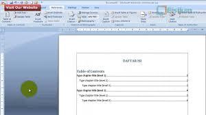 membuat daftar isi table of contents di word 2007 cara mudah membuat titik titik daftar isi pada microsoft word youtube