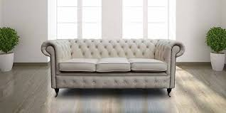 ivory leather essex chesterfield 3 seater sofa designersofas4u