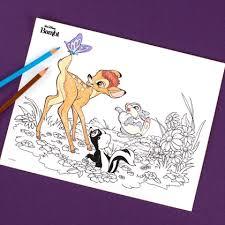 bambi coloring disney family