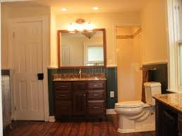 modern shower ideas for small bathrooms with vanity and recessed