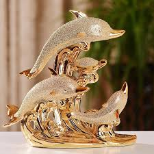 dolphin home decor ceramic dolphin home decor crafts room decoration ceramic kawaii