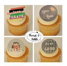 personalized cupcake toppers custom cupcake toppersedible custom
