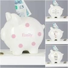 personalised piggy bank personalised piggy bank money box christening gift wedding fund