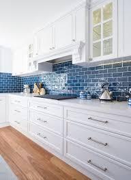 white kitchen cabinets with blue subway tile 25 subway tile backsplashes for your kitchen
