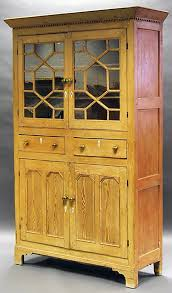antique pine kitchen cabinet with astral glazed cupboard u0026 two