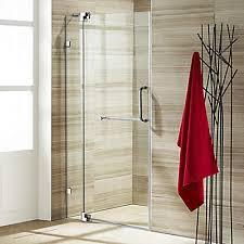 Shower Door Closer by Vigo Clear And Chrome Frameless Shower Door 42 Inch 3 8 Inch Glass
