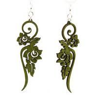 green tree earrings green tree wood earrings