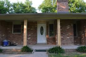 ranch style front porch adding a front porch to a brick ranch beneath my heart