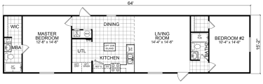 Single Wide Mobile Home Floor Plans 2 Bedroom Single Wide Mobile Homes Factory Expo Home Centers