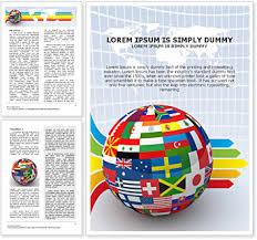 global world flags word template u0026 design id 0000000911