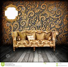 interior grunge room with classic sofa stock photo image 17119996