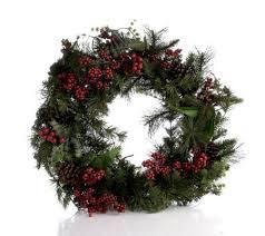 solar powered 24 prelit winterberry wreath qvc uk