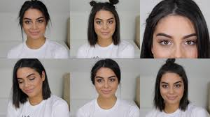 Hairstyles For Back To School Short Hair | 6 heatless back to school hairstyles for short hair youtube