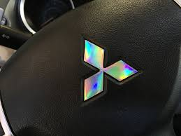 mitsubishi evo emblem mitsubishi logo laser spectrum decal set cars mitsubishi