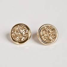 glitter stud earrings boxed gold glitter stud earrings giftsforher accesorize