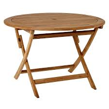 10 easy pieces round wood outdoor dining tables gardenista