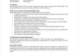 Dishwasher Description For Resume Download Table Busser Job Description Haadyaooverbayresort Com