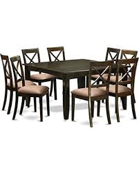 Microfiber Dining Room Chairs Great Deals On East West Furniture Pfbo9 Cap C 9piece Dining Room