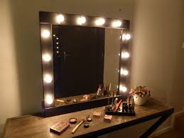 bedroom 35 unique makeup vanity with string lighting and curtain