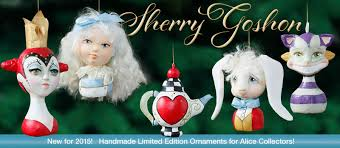 sherry goshon paper clay and cotton dolls and ornaments at the