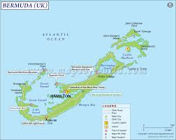 Map Of Caribbean Island by Where Is Bermuda Bermuda Location In World Map