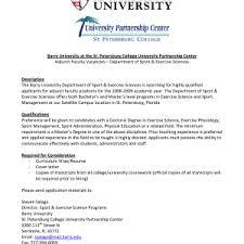 sample cover letter for adjunct instructor docoments ojazlink