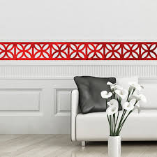 compare prices on border wall sticker online shopping buy low 10pcs 10x10cm diy wall mirror acrylic mirrored decorative wall stickers border home decoration wall art paper