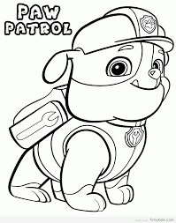 paw patrol coloring pages timykids