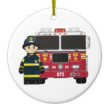Fire Department Christmas Decorations by Fire Engine Christmas Tree Decorations U0026 Ornaments Zazzle Co Uk