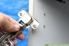 Replacing Hinges On Kitchen Cabinets by 3 Ways To Replace Cabinet Hinges Wikihow