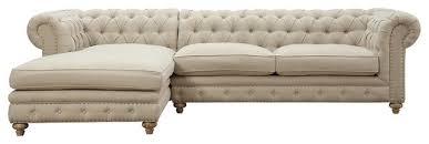Beige Sectional Sofa Tov Furniture Oxford Beige Linen Laf Sectional Tov S19 Sec L