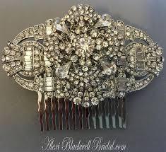 wedding hair comb art deco rhinestone great gatsby bridal hair