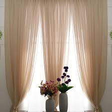 beige color sheer lace curtains