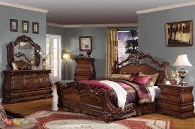 Cherry Bedroom Furniture Set Frontega Traditional Cherry Bedroom Furniture Sleigh Bed W Marble
