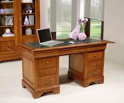 bureau style directoire bureau ministre 9 tiroirs en merisier massif de style louis philippe