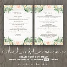 wedding dinner menu cards for wedding buffet menu ideas printable