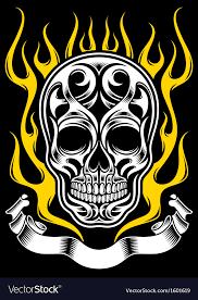 ornate skull royalty free vector image