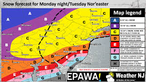 Storm Map Mar 12 Shutdown Snow Storm Expected