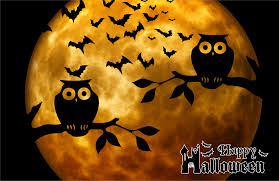 clipart happy halloween full moon background