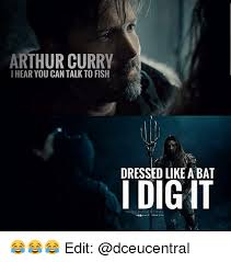 Can You Dig It Meme - arthur curry i hear you can talk to fish dressed like abat i dig it