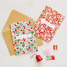 pack of 6 hand drawn floral festive charity christmas cards lucy