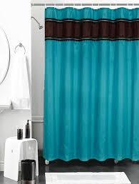 Turquoise And Brown Curtains Turquoise Brown Shower Curtain The Fresh Turquoise Shower