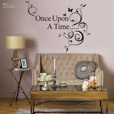 Bedroom Wall Decor Sayings Once Upon A Time Vinyl Wall Lettering Stickers Quotes And Sayings