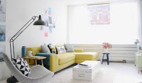 Yellow Grey Chair Design Ideas Living Room Gray Comfortible Chair Minimalist Clean Design With