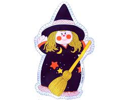 halloween fabric witch doll pillow screened fabric by lovesbanner