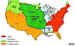 map us expansion westward expansion the louisiana purchase ushistory org